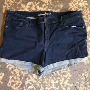 Universal Thread Dark Wash Cuffed Denim Shorts 20W
